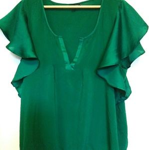 American Eagle Outfitters Green Silky XLG Top